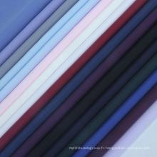 Tissu en microfibre solide Tenue souple Chemise en tissu uni