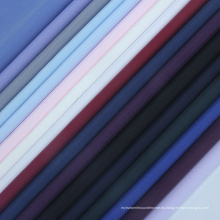 Tejido de microfibra liso Tejido liso para camisas de traje suave