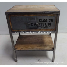 industrial style night stand