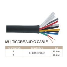Male Connector Multicore Audio Cable