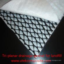 Geotextile Composé Geonet de Drainage Tri-Planar pour l'enfouissement