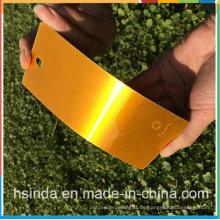 Kundengebundene Fabrik-preiswerte hochglänzende Süßigkeits-orange transparente klare Pulverbeschichtung
