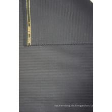 Dunkelblaues Tweed Kammgarn Wollstoff