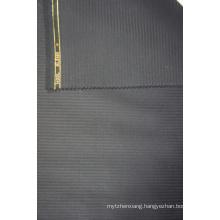Dark Blue Tweed Worsted Wool Fabric