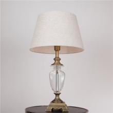 Lámpara de mesa de cristal con bombilla de ahorro de energía (82127)