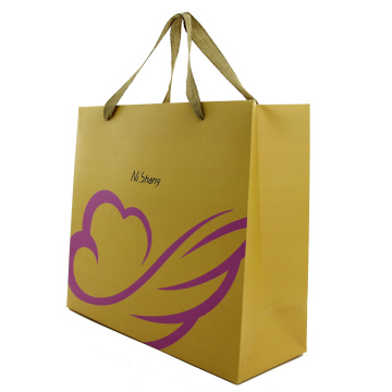 Menangani Datar Brown Kraft Fancy Paper Gift Bag