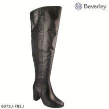 Putian Shoes Factory Elegant Stylish Over Knee High Heel Women Winter Boots