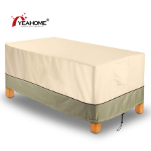 Terrassentisch Möbelbezug Langlebige wasserdichte winddichte Tischdecke für den Außenbereich