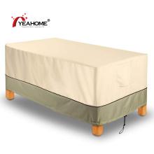Cobertura de móveis de mesa de pátio durável à prova d'água à prova de vento toalha de mesa ao ar livre