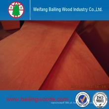 Uso comercial da madeira compensada da qualidade da colagem E1 para a mobília