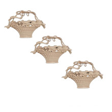 flower basket molding decorated solid wood carving flowers