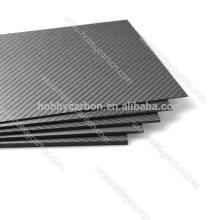 Feuille de fibre de carbone pure mat de 1.5mm 400X500mm 3k twill, plaque de fibre de carbone