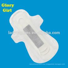 almohadillas menstruales de carbón de anión a base de hierbas de algodón ultra delgadas