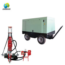 Pneumatic DTH rock blasting hole drilling rig