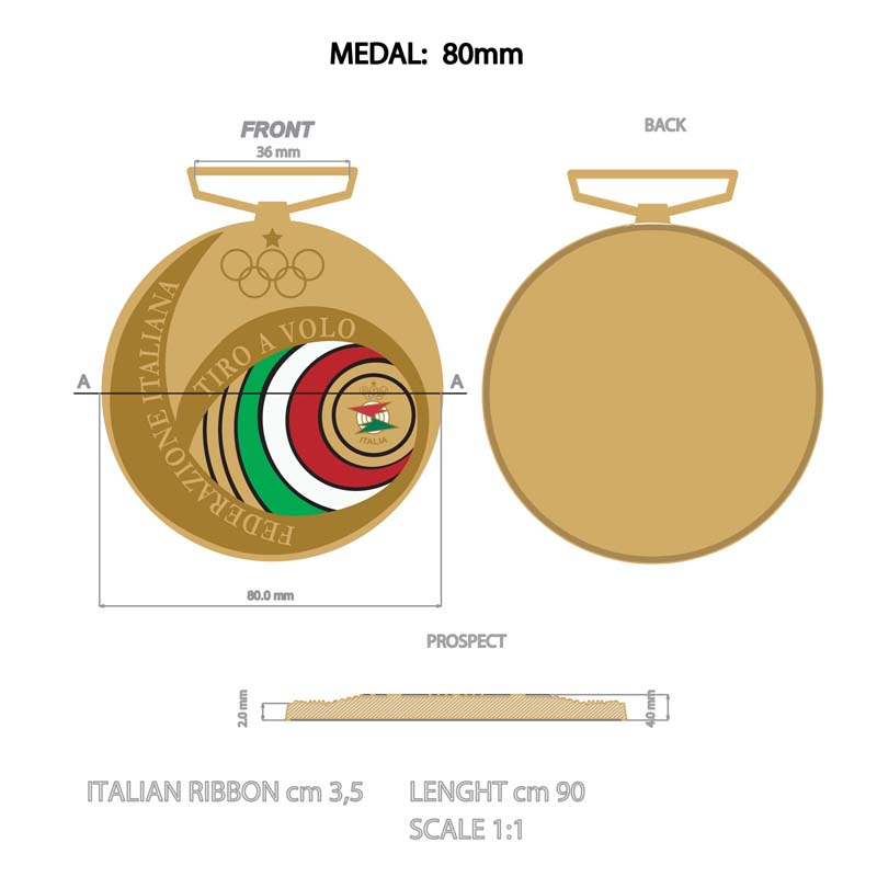 Custom Medal With Ribbons 80mm