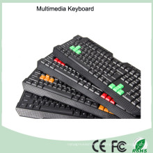 Las últimas ergonómicas USB multimedia impermeable teclado (KB-1688M-B)