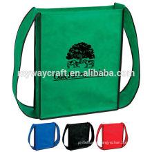 OEM fabricação saco colorido não tecido de compras de ombro