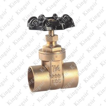BRASS GATE VALVE WITH SOLDER JOINT