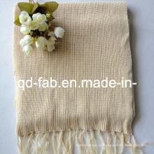 Cânhamo / lenço de algodão orgânico tingido (HRS-5545)