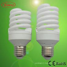 T2 La moitié spirale lampe économiseuse d'énergie