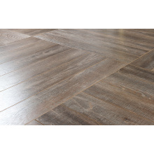 Household12.3mm AC4 Embossed Teak Waxe3d Edged Laminate Flooring