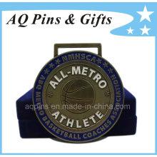 Médaille d'athlète avec boîte en velours