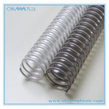 Clear PVC + tube renforcé d'acier pour le transport