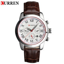 curren vintage men watch with small dial design