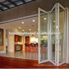 Exterior preço de porta de vidro dobrável