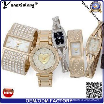 Yxl-267 Бренд Новые Женщины Мода Платье Наручные Часы Оптовая Продажа Дешевые Свободного Покроя Часы Дамы Мода Наручные Часы Леди