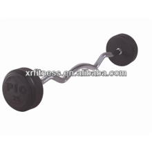 Fixed Curl Rubber Barbell