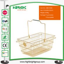 Supermarkt-Metall-Einkaufskorb mit Griff