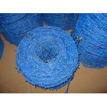 PVC Coated Blue Galvanized Barbed Wire for Industry (anjia-541)