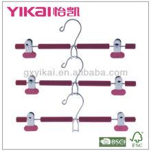 Ensemble de cintres métalliques moulés en mousse 3pcs EVA avec clips en métal et crochet d'économie d'espace