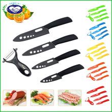"Blade Set Keramik Chef Küchenmesser 3 ""4"" 5 ""6"" + Peeler Messer Besteck"