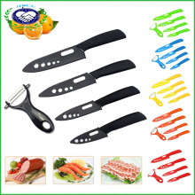"Blade Set Ceramic Chef Kitchen Knives 3"" 4"" 5"" 6"" + Peeler Knife Cutlery"