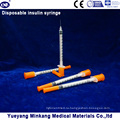 Одноразовые 1cc Инсулиновые шприцы на 0,5 мл Инсулиновые шприцы 0.3 куб. Инсулиновые шприцы (ЭНК-М-038)