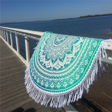 1500mm Tassels Fringe Microfiber round beach towels