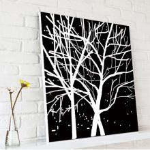 Черные и белые деревья Декоративные настенные керамические картины
