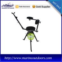 cadeira de caça ao ar livre ajustável de aço preto
