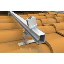 Anodized Aluminium Micro Solar Roof Rails PV Mounting System aluminium solar mounting rail