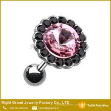 316L Surgical Steel Gemmed Crystal Ear Cartilage Tragus Earring 16G Helix Piercing