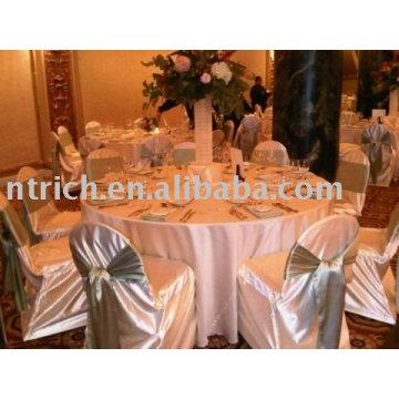 Couverture de chaise de satin, couverture de chaise d'hôtel / banquet
