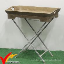 Luckywind Shabby Holz Falttablett Tisch für Balkon Pflanzen