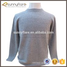 Jersey 100% de la cachemira del cuello redondo del hombre de la calidad de las ventas de la fábrica, jersey hecho punto del hombre del modelo de la cachemira