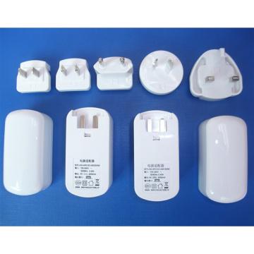 Adaptador de corriente USB eléctrico del enchufe de Au de la UE Reino Unido Reino Unido Plug intercambiable