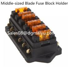 Suporte automotivo universal do bloco do fusível da lâmina do circuito da maneira do veículo 6 do caminhão do carro