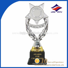 Excellent quality plastic silver star trophy for world cup