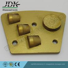 Plaque trapézoïdale 1/2 pièce PCD + Diamond Segment