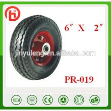 small wheel barrow tire/tyre 6''x2'',Pneumatic wheels for Trailer, castor / rubber wheel